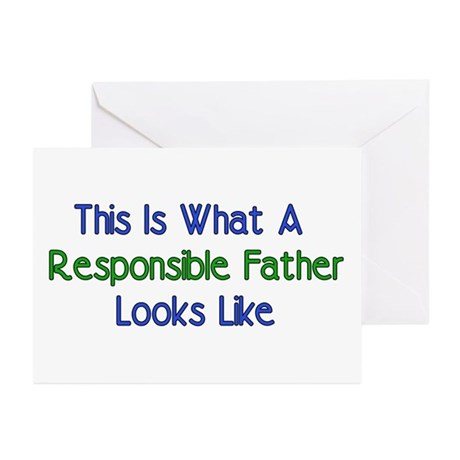 Responsible Father Greeting Cards (Pk of 10)