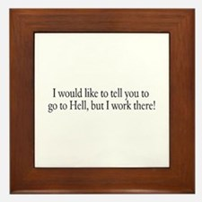 I would like to tell you to g Framed Tile