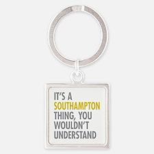 Southampton Square Keychain