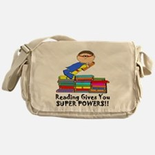 Reading Gives you Super Powers! Messenger Bag