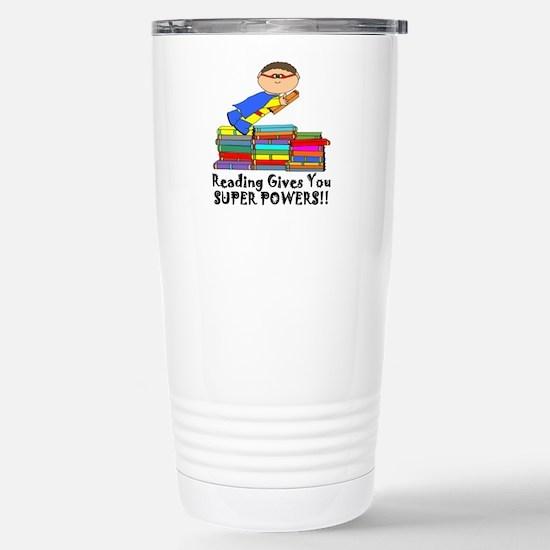 Reading Gives you Super Powers! Travel Mug