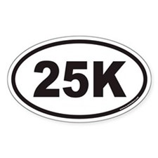 25K Euro Oval Decal