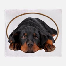 Cute Rottweiler Throw Blanket