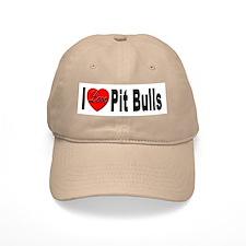 I Love Pit Bulls Baseball Baseball Cap