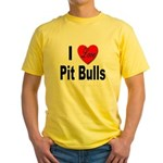 I Love Pit Bulls (Front) Yellow T-Shirt