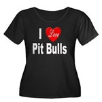 I Love Pit Bulls (Front) Women's Plus Size Scoop N