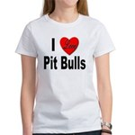 I Love Pit Bulls (Front) Women's T-Shirt