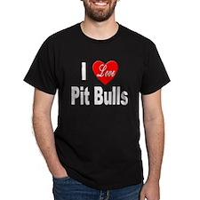 I Love Pit Bulls (Front) T-Shirt