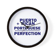 Puerto Rican + Portuguese Wall Clock