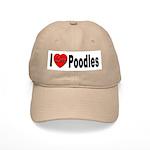 I Love Poodles Cap