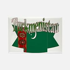 Turkmenistan flag ribbon Rectangle Magnet