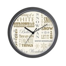 Cute Vintage christmas Wall Clock