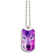 Wolf - Pink Dog Tags