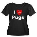 I Love Pugs (Front) Women's Plus Size Scoop Neck D