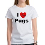 I Love Pugs (Front) Women's T-Shirt