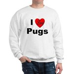 I Love Pugs (Front) Sweatshirt