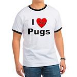 I Love Pugs (Front) Ringer T
