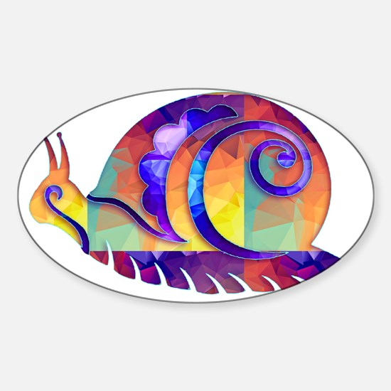 Polygon Mosaic Snail Multicolored Decal