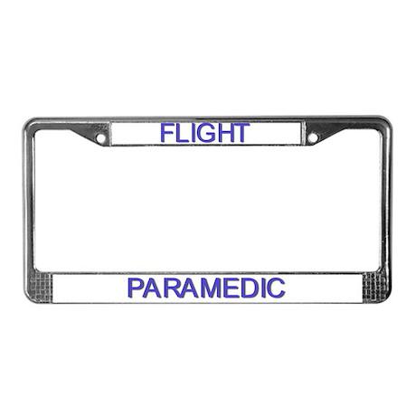 Flight Paramedic License Plate Frame