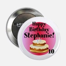 """Personalized Name/age 2.25"""" Button (10 Pack)"""