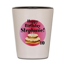 Personalized Name/Age Birthday Cake Pink Shot Glas