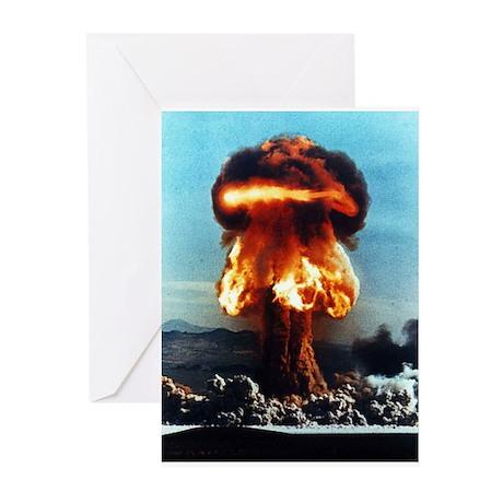 Nuclear Bomb Mushroom Cloud Greeting Cards (Packag