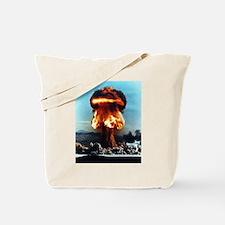 Nuclear Bomb Mushroom Cloud Tote Bag