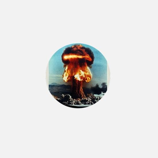 Nuclear Bomb Mushroom Cloud Mini Button