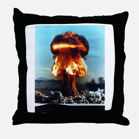 Nuclear Bomb Mushroom Cloud Throw Pillow