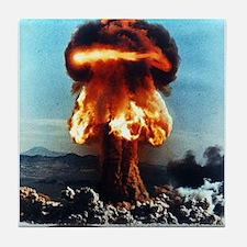 Nuclear Bomb Mushroom Cloud Tile Coaster