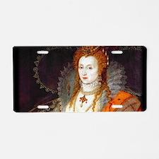 Queen Elizabeth I Aluminum License Plate