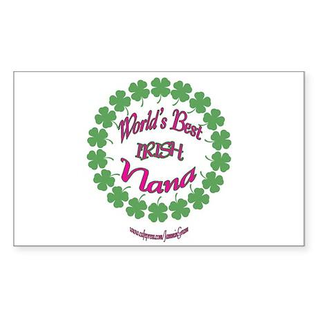 World's Best Nana Rectangle Sticker
