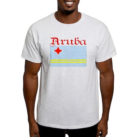 Aruban distressed flag Light T-Shirt