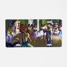 Degas - The Ballet Class Aluminum License Plate