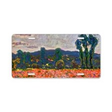 Monet - Poppy Field Aluminum License Plate