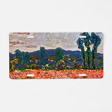 Monet - Poppy Field Aluminum License Plate
