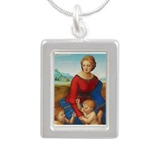 Raphael: Madonna in the Meadow Silver Portrait Nec