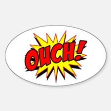 Ouch! Sticker (Oval)