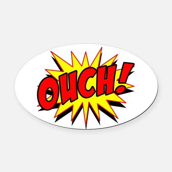 Ouch! Oval Car Magnet