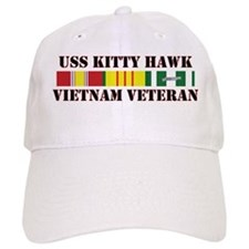 Vietnam Veteran USS Kitty Hawk Baseball Baseball Cap