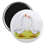 White Chinese Geese Magnet