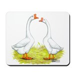 White Chinese Geese Mousepad