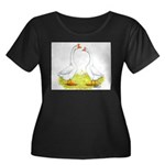 White Chinese Geese Women's Plus Size Scoop Neck D