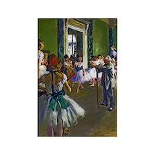 Degas - The Ballet Class Rectangle Magnet