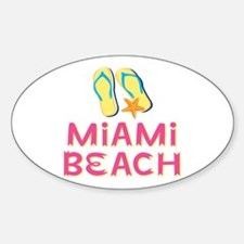 miami beach Sticker (Oval)