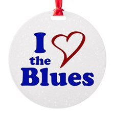 I Love The Blues Ornament