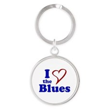 I Love The Blues Keychains