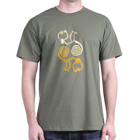Nazca Monkeys Dark T-Shirt