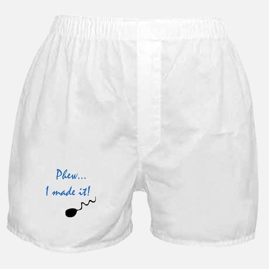 PHEW, I MADE IT Boxer Shorts