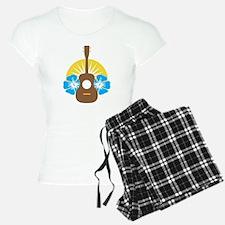 Ukulele Hibiscus Pajamas